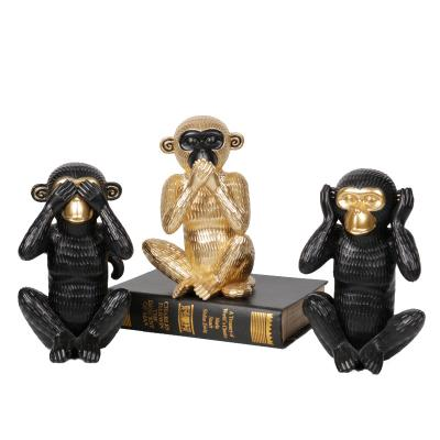 Resin monkey decor